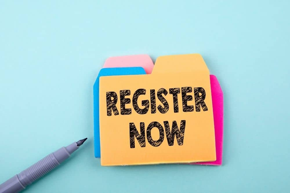 register now note