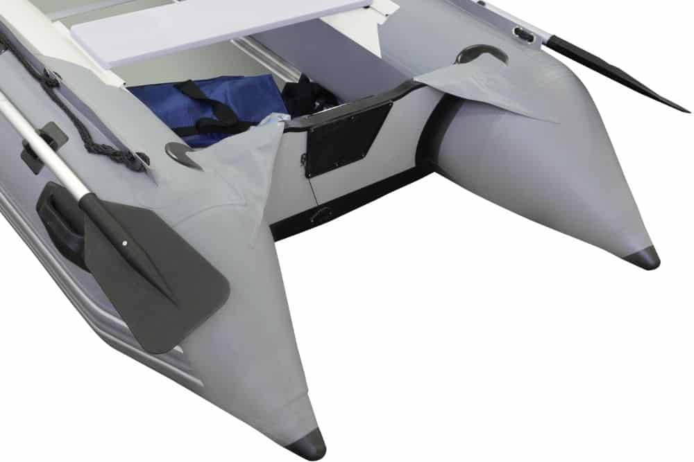 transom of inflatable boat