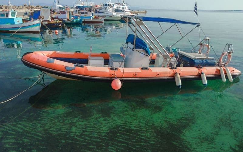 Rigid inflatable boat weight
