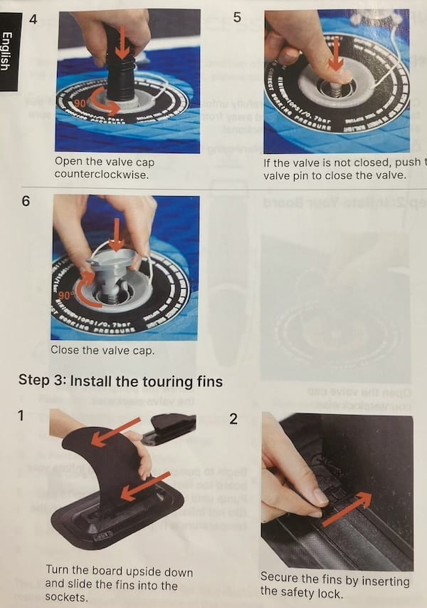 how to inflate the SUP - part 2