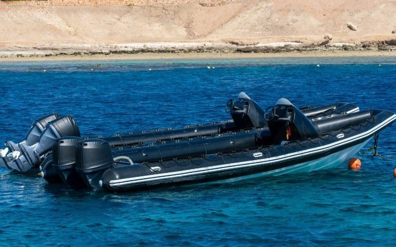 RIBs with outboard motors