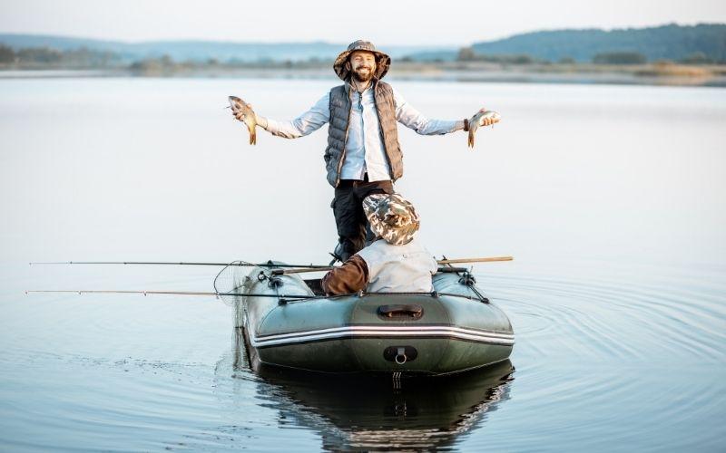 fishing from a RIB boat